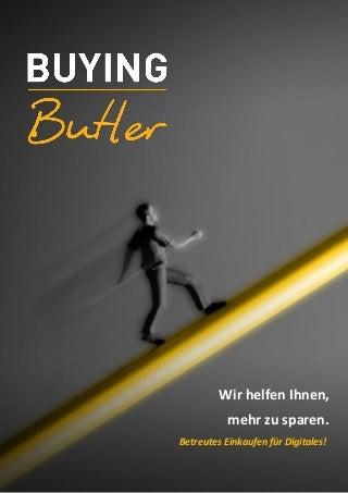 Buying Butler Kurzbeschreibung für Anwender