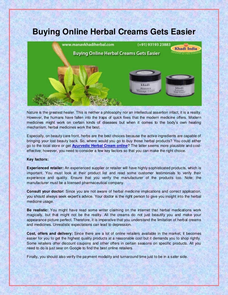 News On Herbal Products