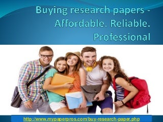 Buying Research Papers At Affordable Price