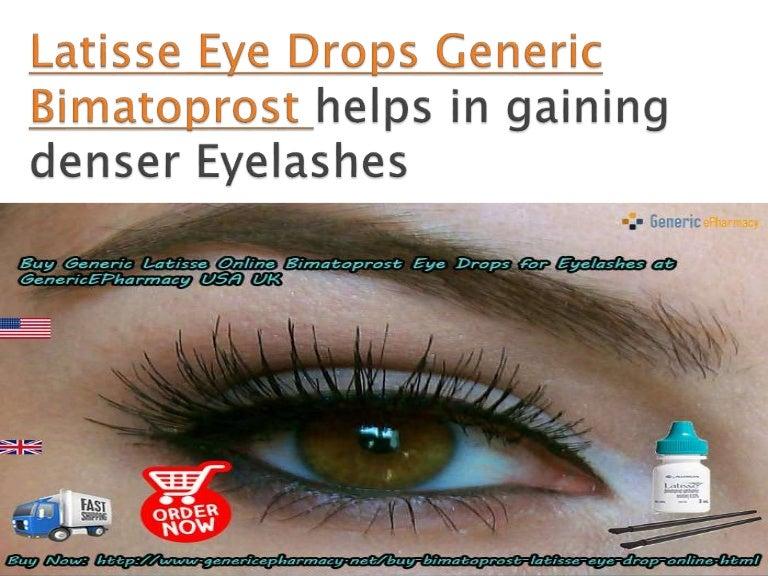 Buy Generic Latisse Eye Drops Online For Eyelashes At Genericepharmac