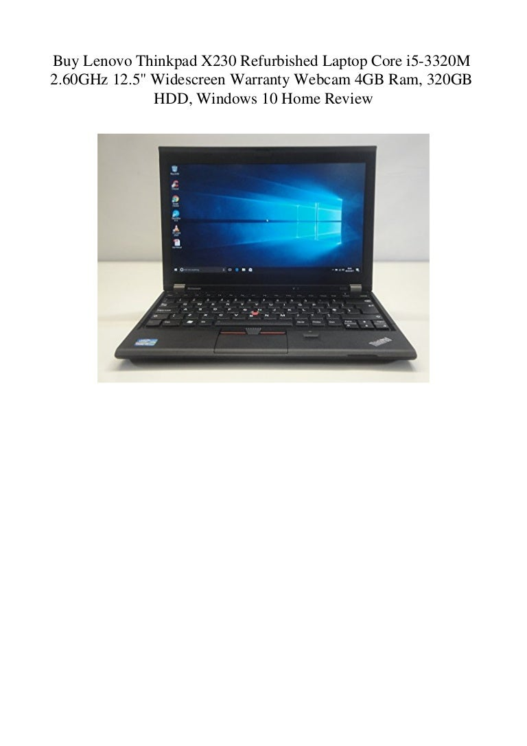 Buy Lenovo Thinkpad X230 Refurbished Laptop Core I5 3320m 2 60ghz 12