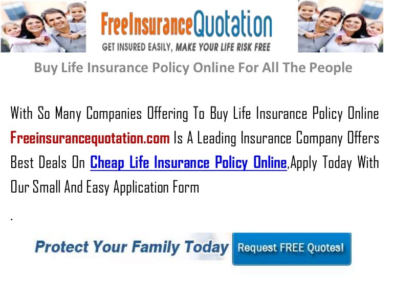 Buy Life Insurance Policy Online For All The People
