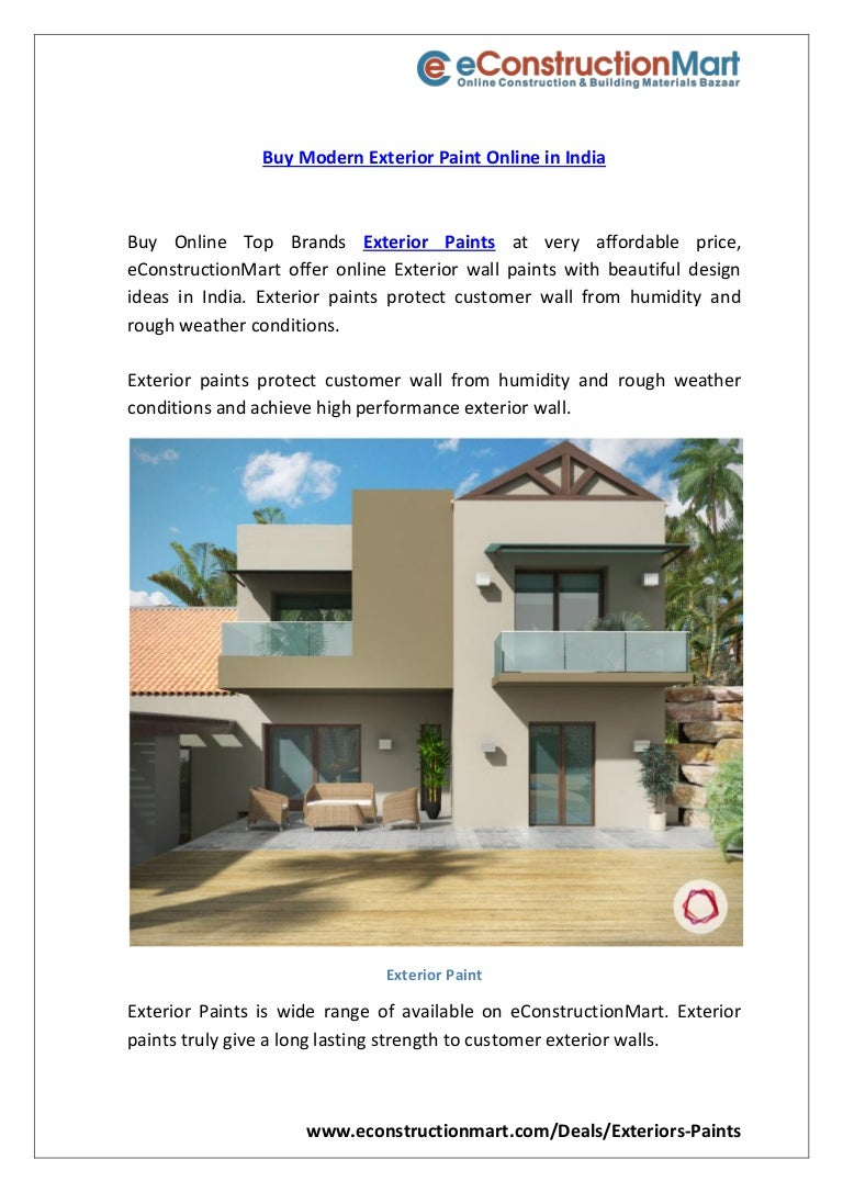 Buy Modern Exterior Paint Online In India