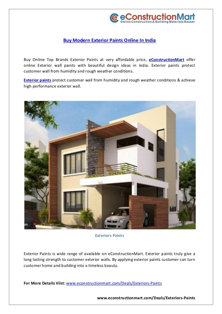 Buy Modern Exterior Paints Online In India