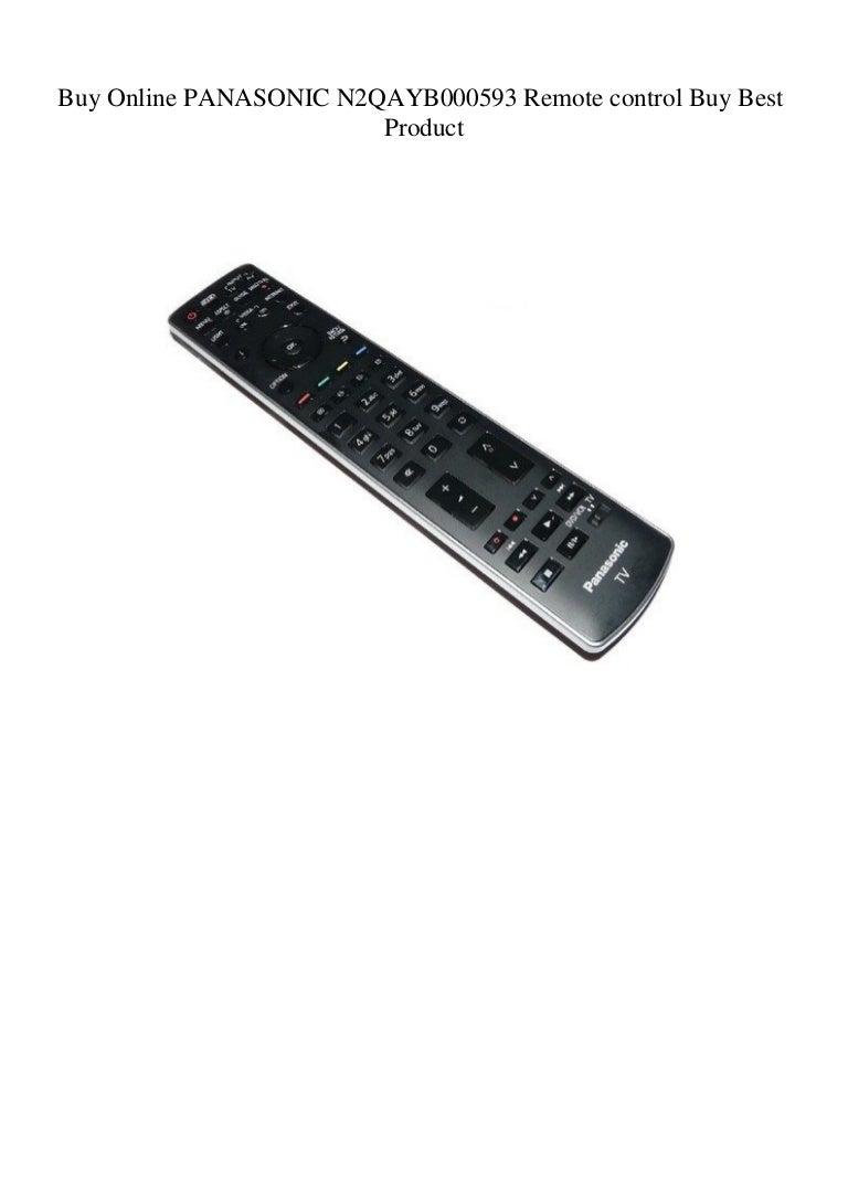 Buy Online PANASONIC N2QAYB000593 Remote control Buy