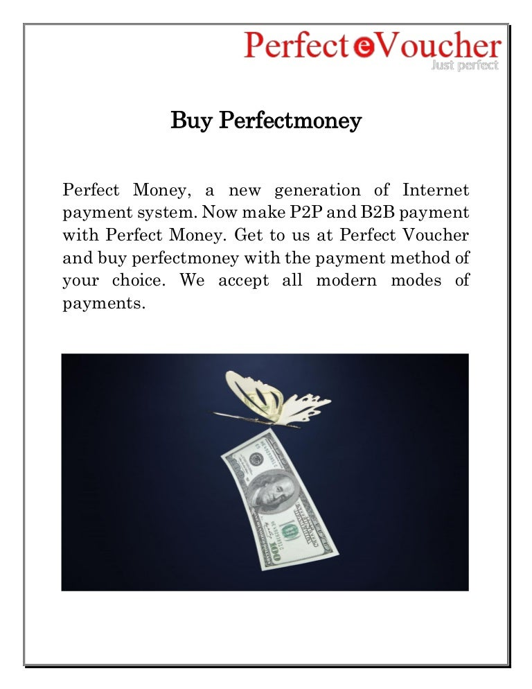 Buy Perfectmoney