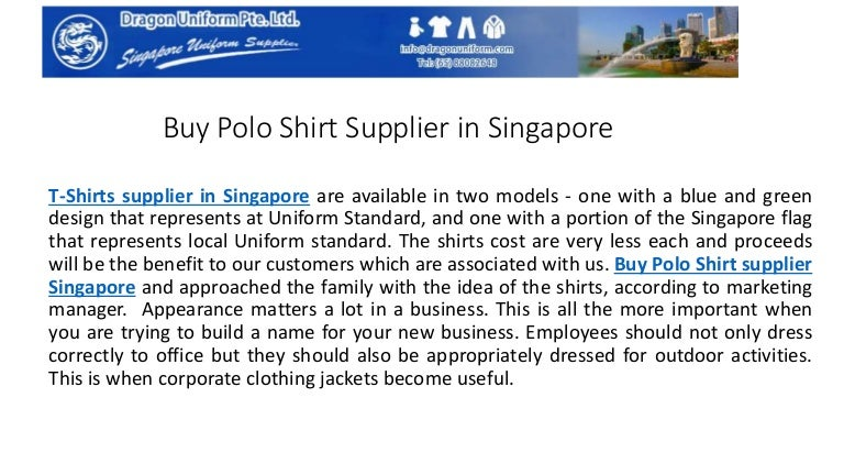 Buy Polo Shirt Supplier in Singapore