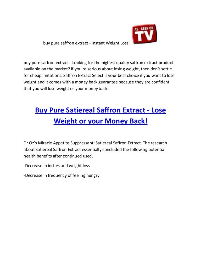 Buy Pure Saffron Extract