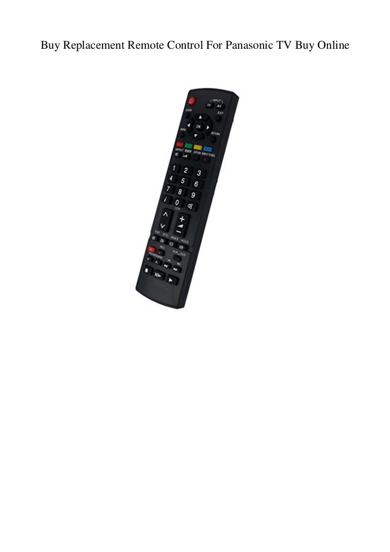 Buy Replacement Remote Control For Panasonic TV Buy Online