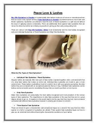 Buy Silk Eyelashes in Sweden - False Eyelashes in Sweden - Buy Silk Eyelashes Online