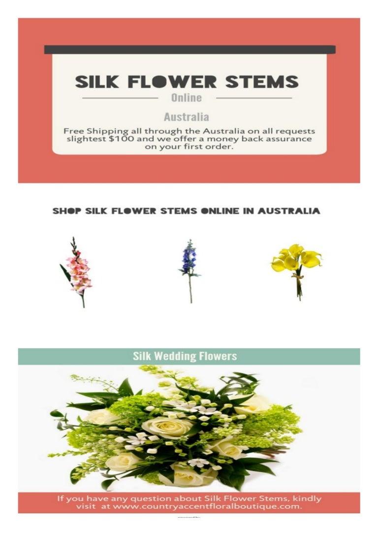 Buy Silk Flower Stems Online In Australia