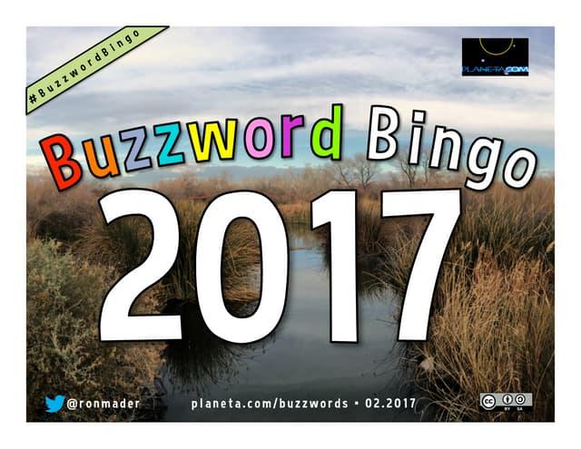 Buzzword Bingo 2017