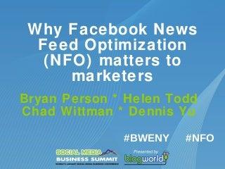 BlogWorld panel on Facebook News Feed Optimization