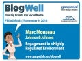 BlogWell Philadelphia Social Media Case Study: Johnson & Johnson, presented by Marc Monseau
