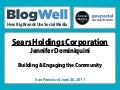 BlogWell San Francisco Case Study: Sears Holdings Corporation, presented by Jennifer Dominiquini
