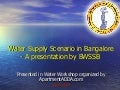 BWSSB presentation - Water Supply Realities Bnagalore