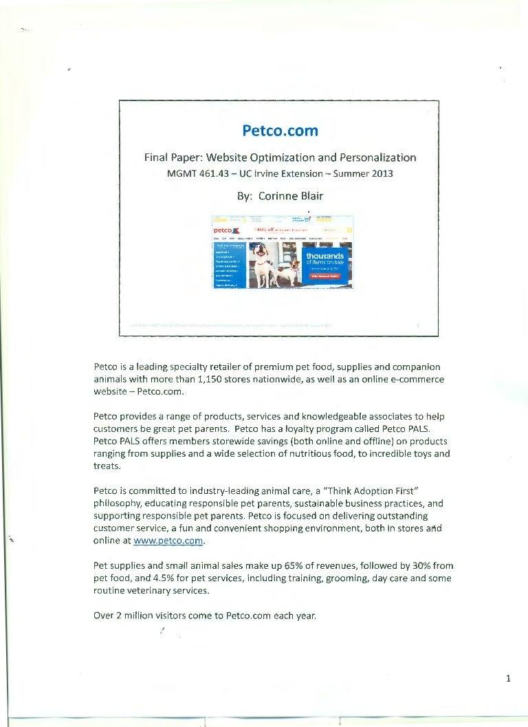 By corinne blair petco.com - website optimization and personalizati…