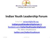 Indian Youth Leadership Forum (BYNF)