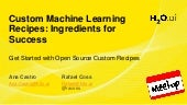 Meetup: Custom Machine Learning Recipes: Ingredients for Success