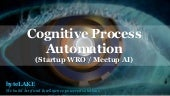 byteLAKE's presentation from Startup Wrocław: meetup #10 - Artificial intelligence