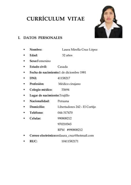 Curriculum Vitae Candela
