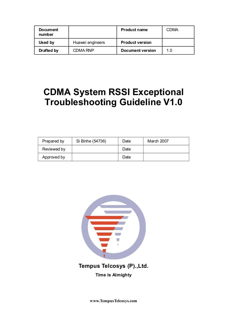 CDMA System RSSI Exceptional
