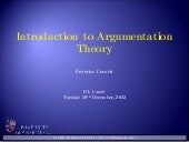 Cerutti--Introduction to Argumentation (seminar @ University of Aberdeen)