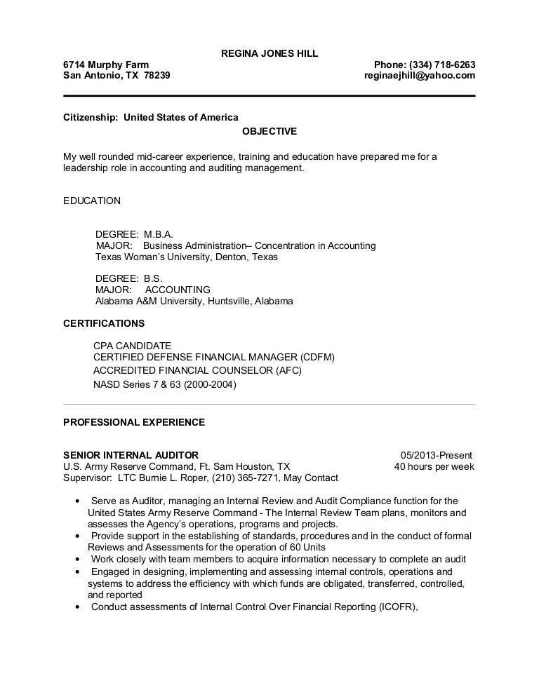 Attractive Regina Accounting Resume Photo - Administrative Officer ...