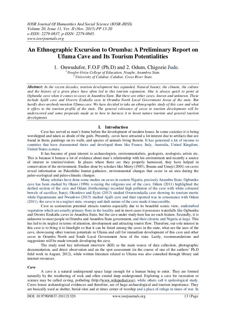 an ethnographic excursion to orumba a preliminary report on ufuma ca