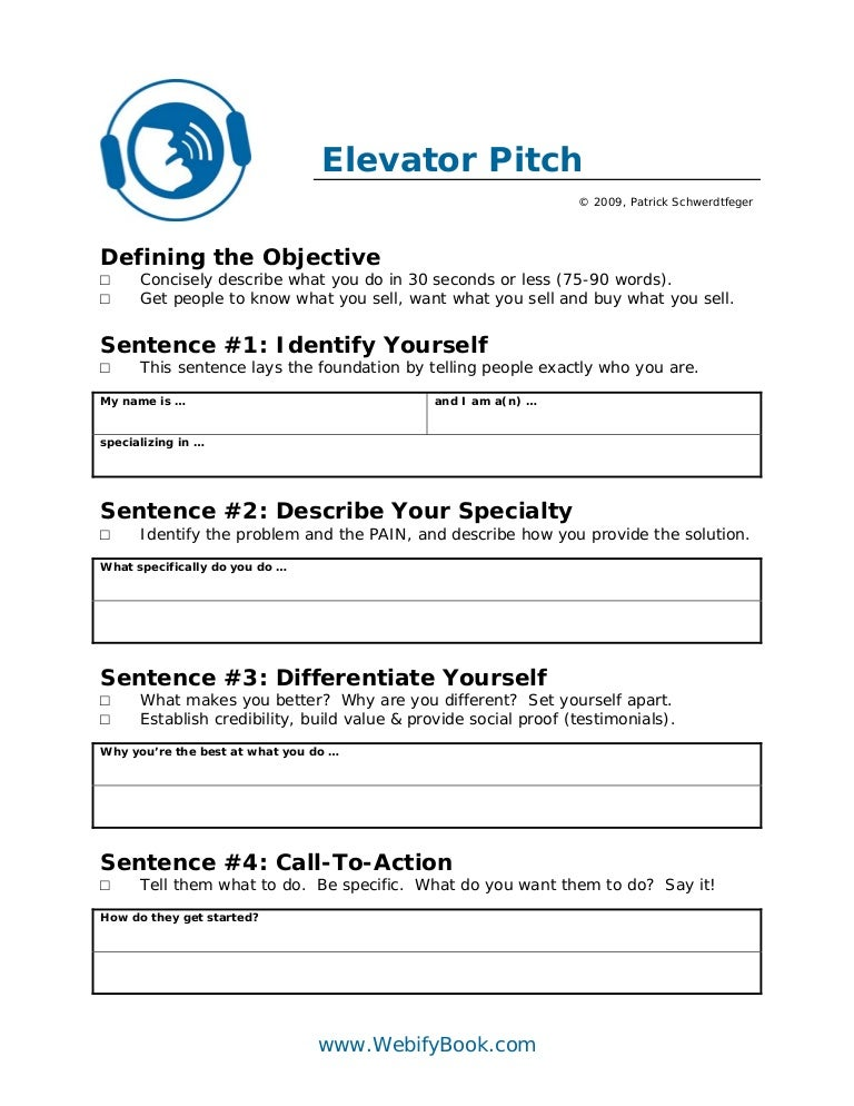 C06 Business Elevator Pitch (Worksheet)