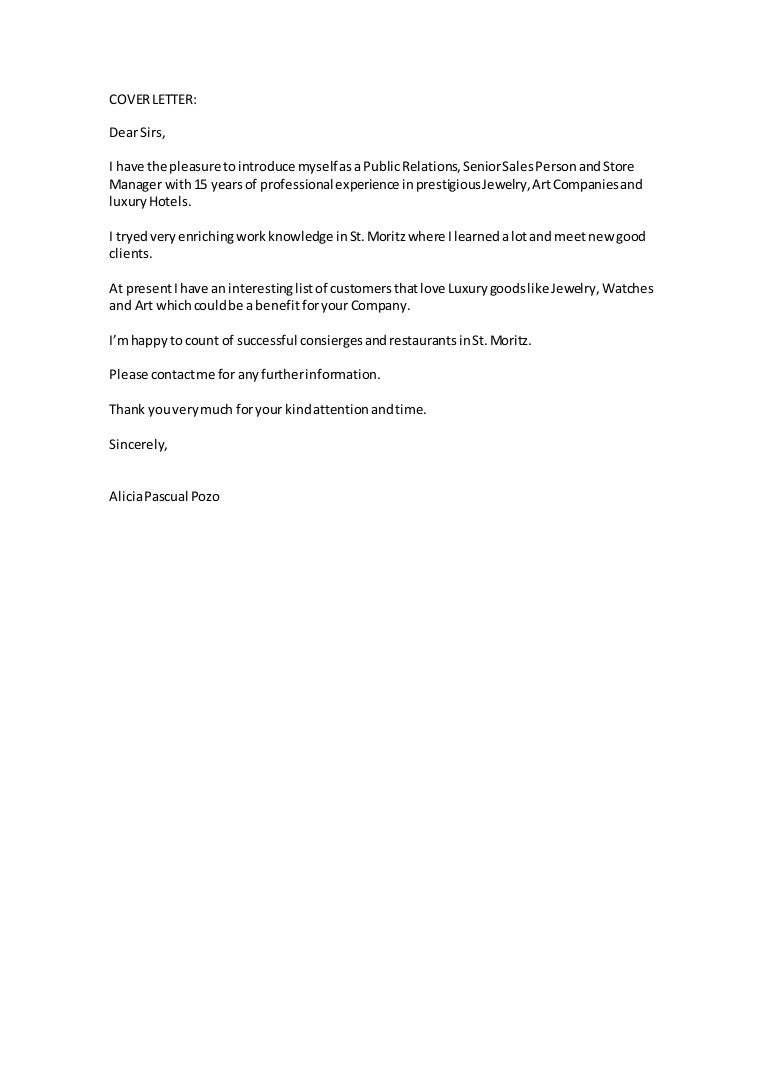cover letter for jewelry store - Yupar.magdalene-project.org