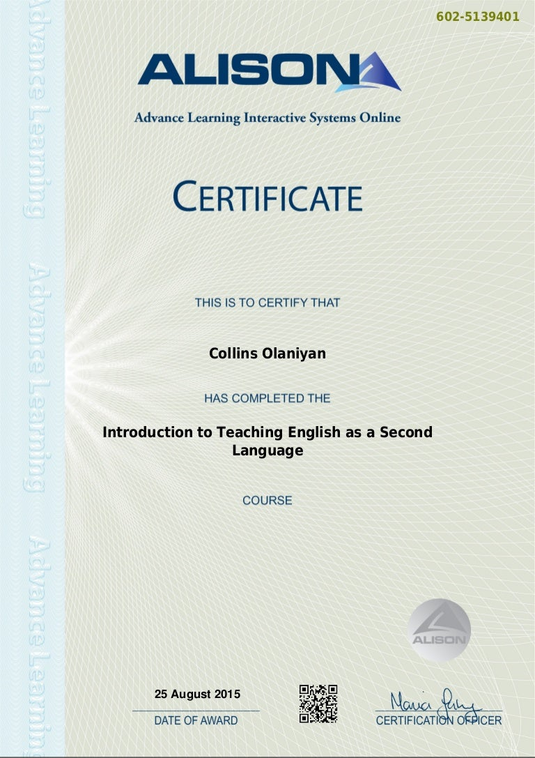 Introduction to teaching english as a second language certificate 1betcityfo Image collections