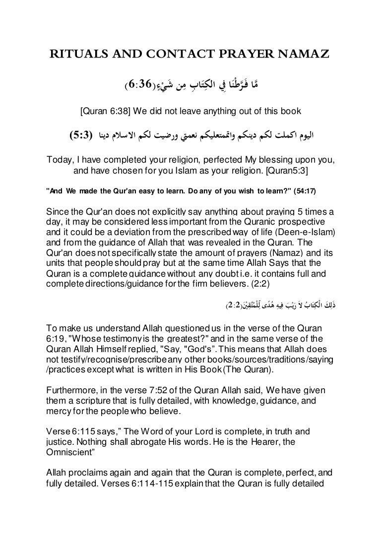 Rituals and contact prayer namaz in islam buycottarizona