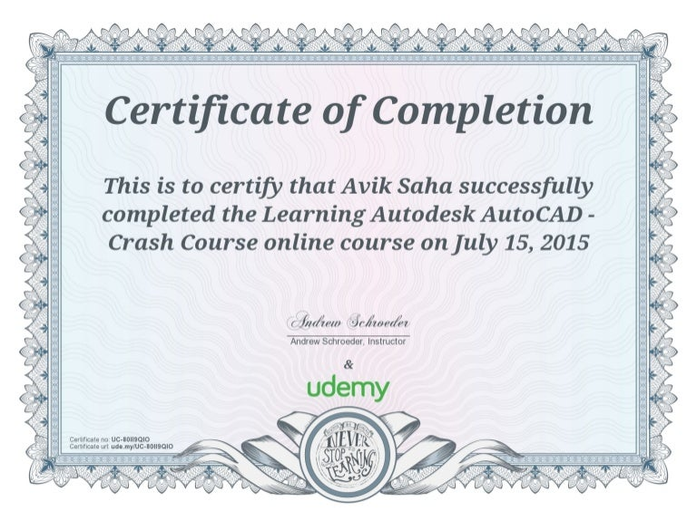 udemy certificate autocad practice completion drawings 2d sap training certification course uc excel soa microsoft mongodb java courses activemq certifications