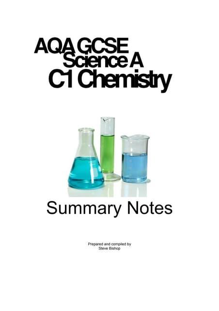 AQA GCSE Science C1 notes