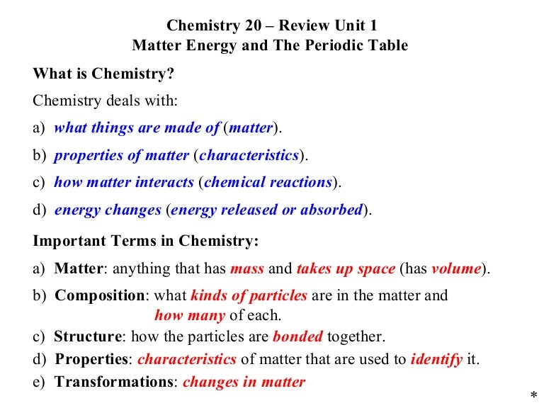 C20 review unit 01 matter energy and the periodic table urtaz Images