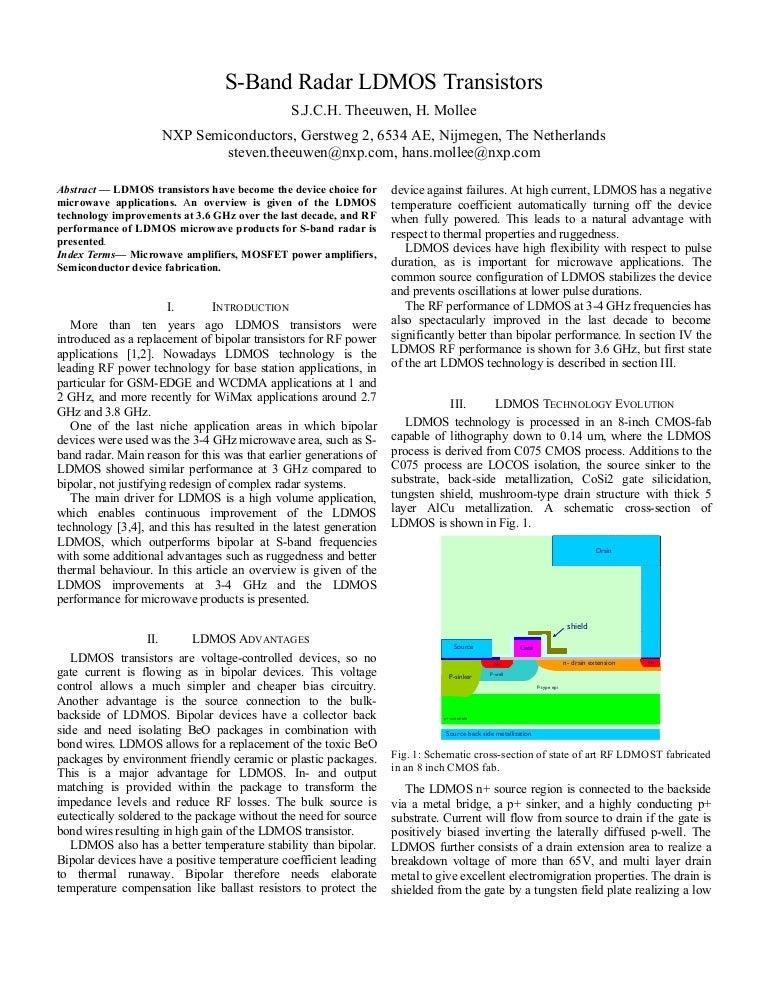 S-Band Radar LDMOS Transistors EuMW2009