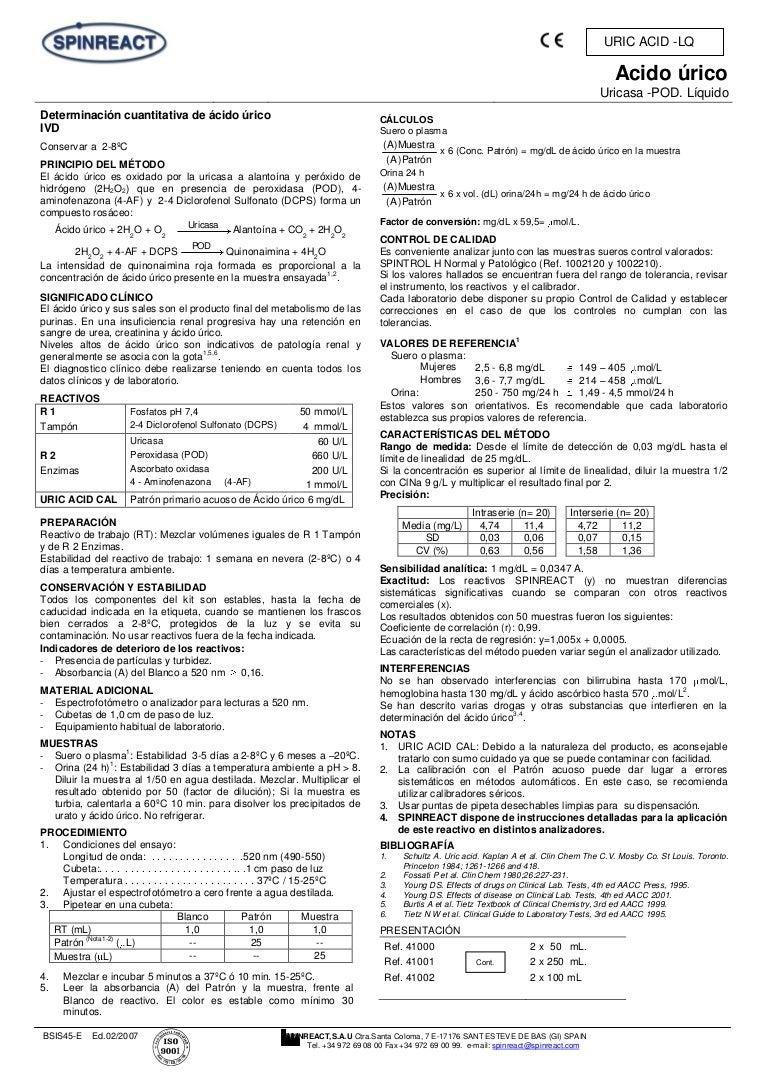acido urico en orina de 24 horas procedimiento
