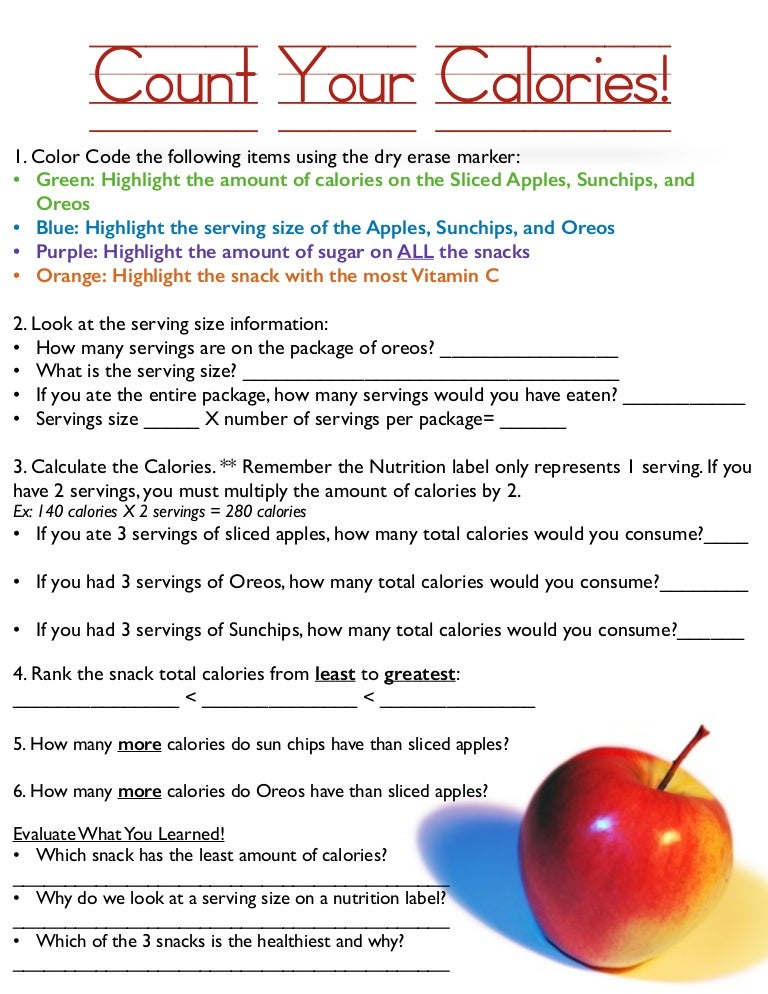 Worksheets Calorie Worksheet count your calories worksheet