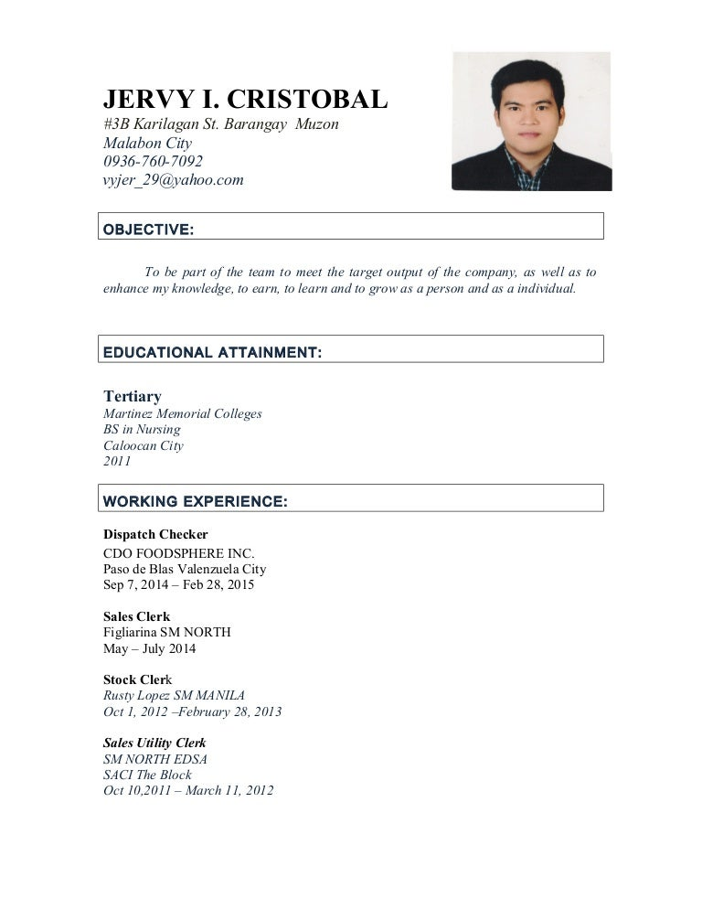 personal information in resumes