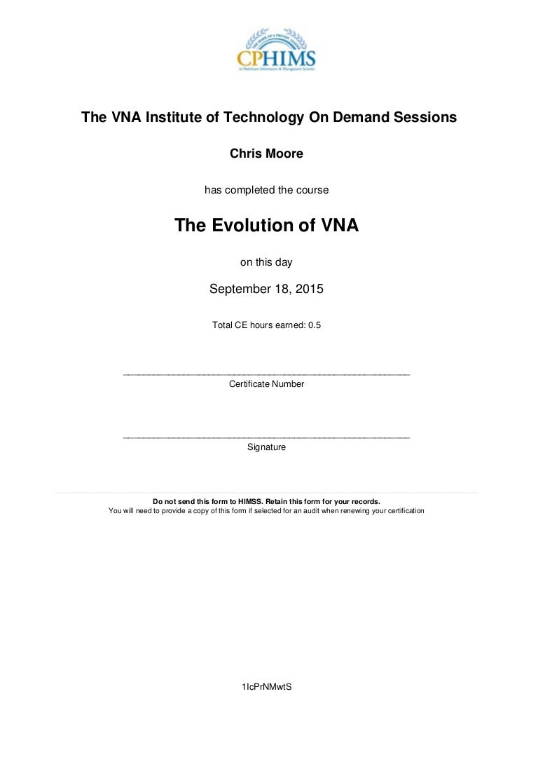 Evolution of the vna certificate 1betcityfo Images