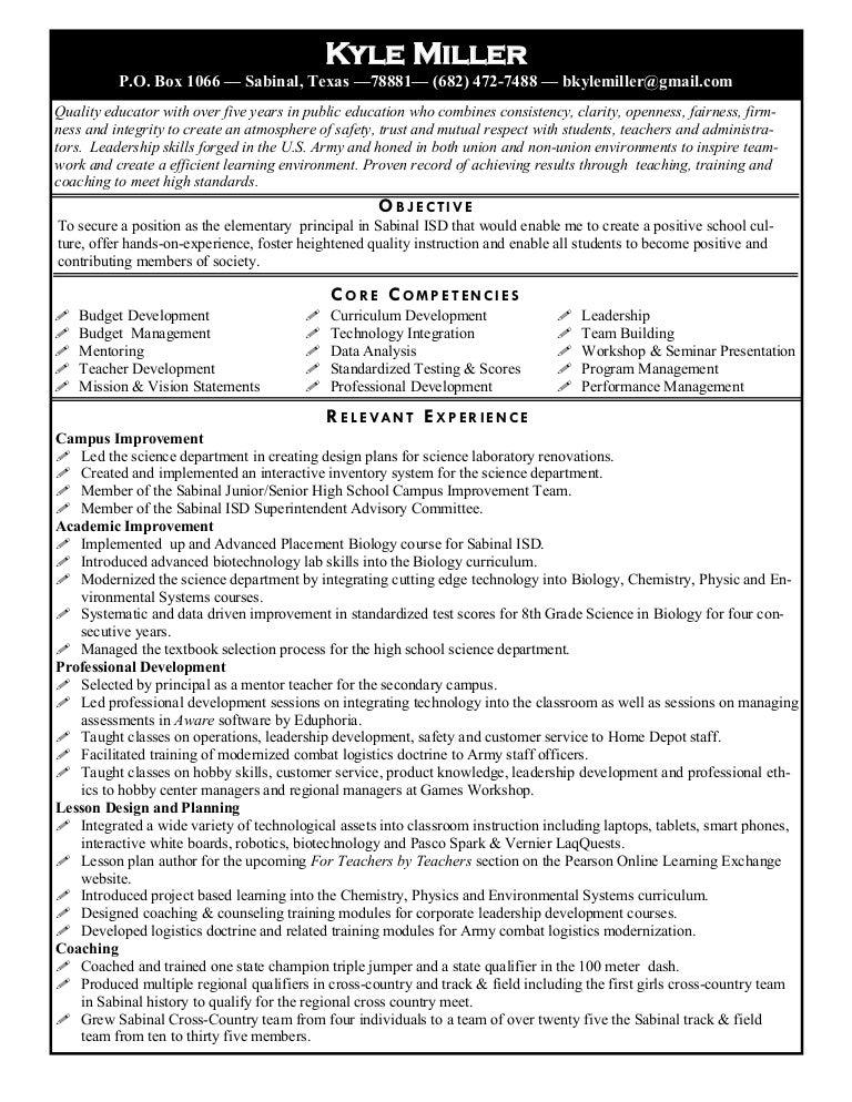 principal resume r3