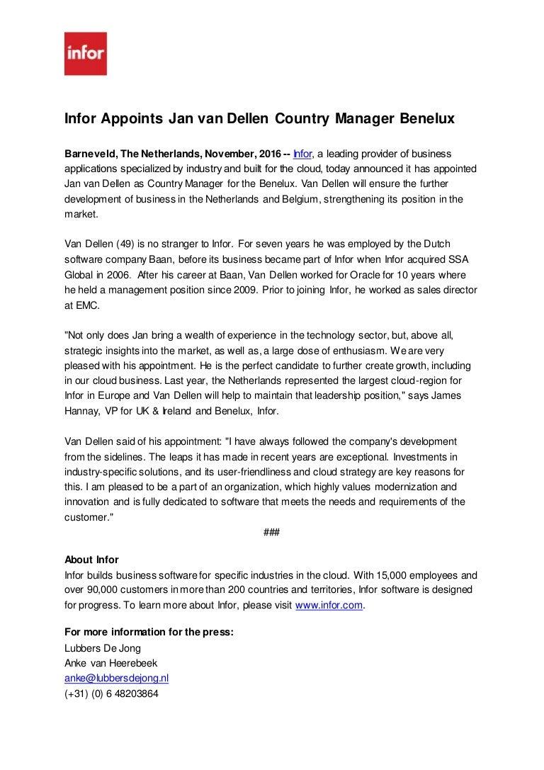 infor press release jan van dellen nov 2016 docx