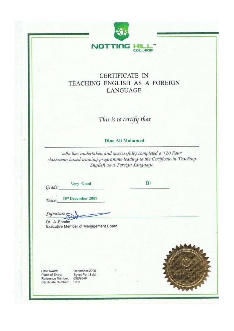 tefl certificate ali slideshare