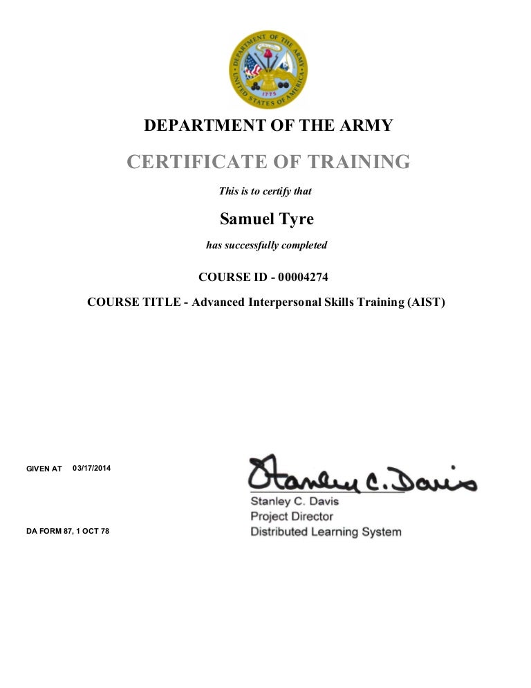 Army Training And Certification Trisaorddiner