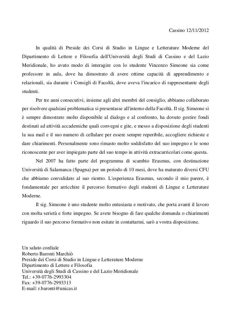 Lettera Di Referenze Prof Baronti