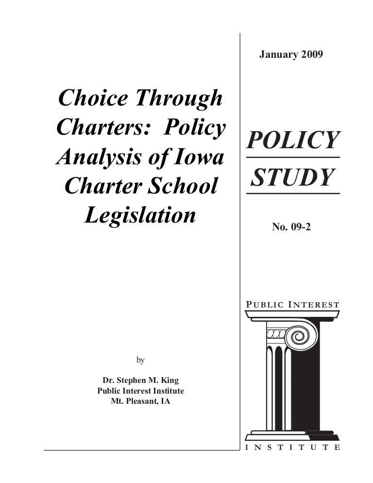 Iowa Charter School Policy Analysis 0109