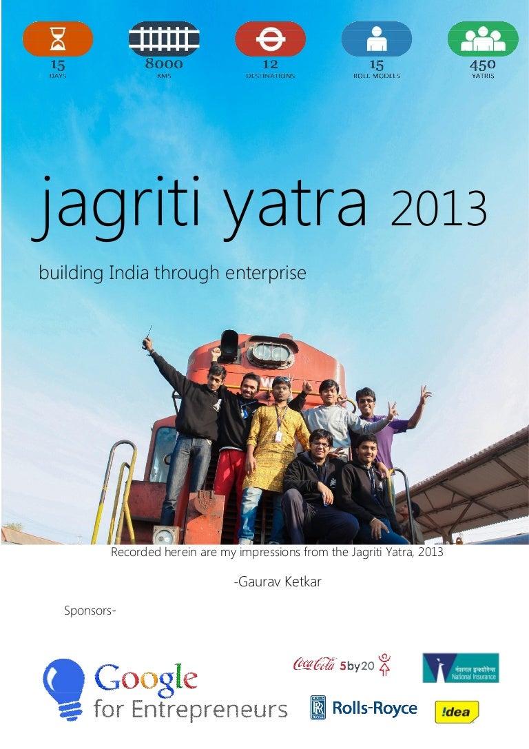 Jagriti Yatra Experience Gaurav Ketkar