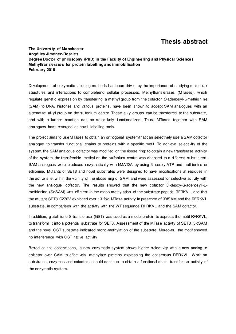 Doctoral dissertation assistance abstract
