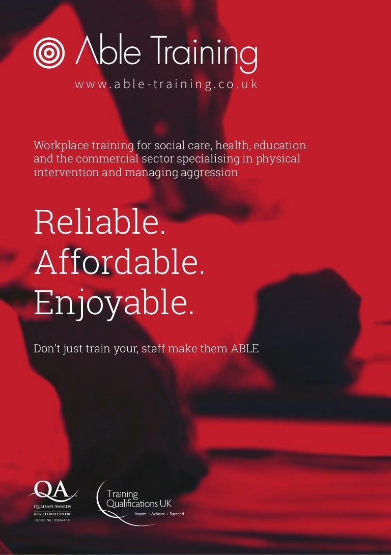 Able training full course brochure xflitez Images